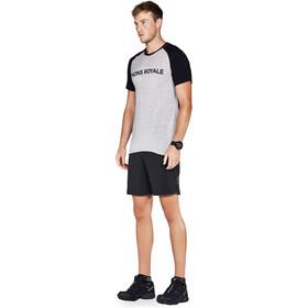 Mons Royale M's Temple Raglan Tech T-Shirt Black/Grey Marl